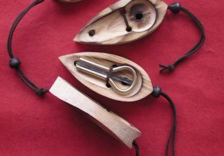 étui en bois pour guimbarde